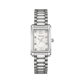 Bulova Women's 96P157 Silver Stainless Steel Water-resistant Watch