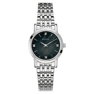 Bulova Women's 96P148 Silver Stainless Steel Water-resistant Watch