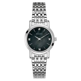 Bulova Women's 96P148 Silver Stainless Steel Water-resistant Watch|https://ak1.ostkcdn.com/images/products/13862070/P20502852.jpg?impolicy=medium