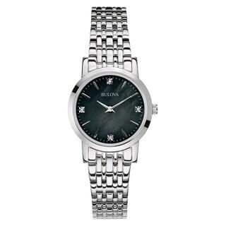 Bulova Women's 96P148 Silver Stainless Steel Water-resistant Watch