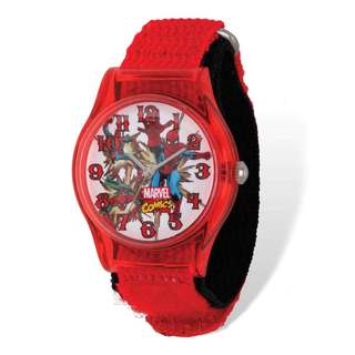 Marvel Spiderman Acrylic Red Nylon Tween Watch