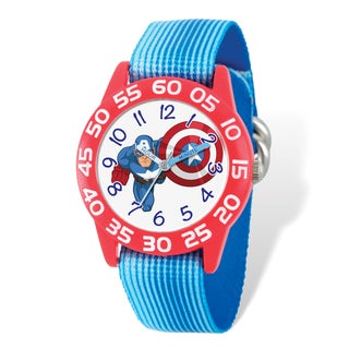 Marvel Kids Captain America Time Teacher Watch