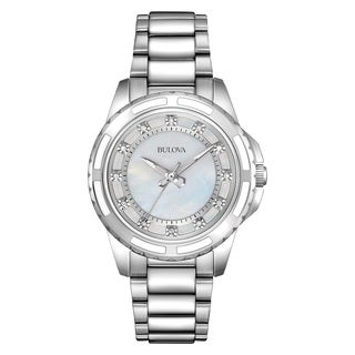 Bulova Women's 96P144 Silver Stainless Steel Water-resistant Watch