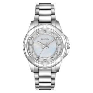 Bulova Women's 96P144 Silver Stainless Steel Water-resistant Watch