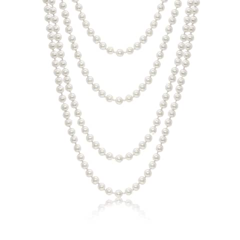 Pearlyta Shell Pearl 64-inch Endless Necklace (8 mm)