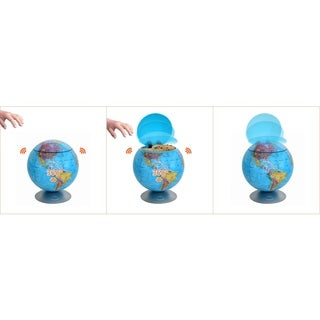 100% Touchless Motion Sensor Cookie Jar - Global Map