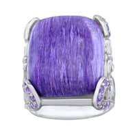 Pangea Mines Charoite and Amethyst Cocktail Ring