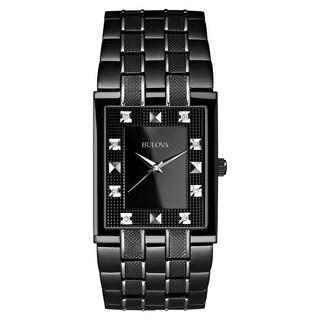 Bulova Men's 98D111 Black Stainless Steel Water-resistant Watch