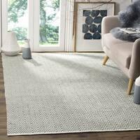 Safavieh Hand-Woven Boston Grey Cotton Rug - 5' x 8'