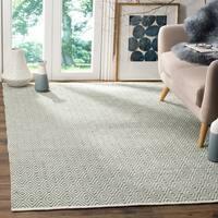 Safavieh Hand-Woven Boston Grey Cotton Rug (6' x 9')