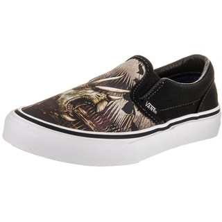 Vans Kids' Black Canvas Classic Slip-on Triceratops Skate Shoe
