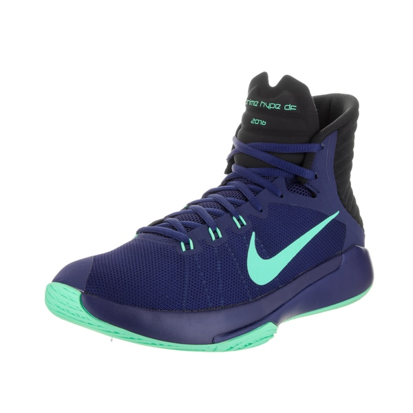 best loved 89435 3e893 Shop Nike Men's Prime Hype DF 2016 Blue Fabric Basketball ...