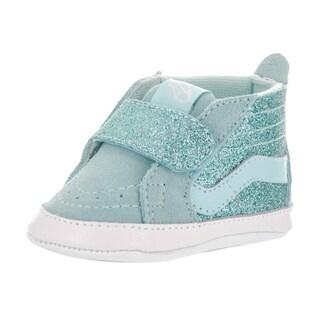 Vans Toddlers' Sk8-Hi Crib (Shimmer) Blue Textile Skate Shoes