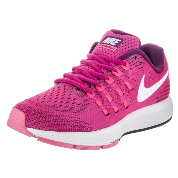 low priced 0f2e9 c0054 Nike Women  x27 s Air Zoom Vomero 11 Pink Textile Running Shoes