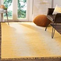 Safavieh Hand-Woven Montauk Flatweave Gold Cotton Rug - 6' x 9'