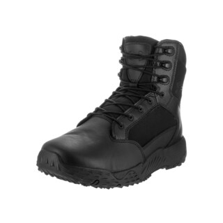 Under Armour Men's UA Stellar Tac 2E Black Leather Wide Boots
