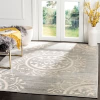 Safavieh Indoor/ Outdoor Cottage Grey/ Cream Rug - 7' X 10'