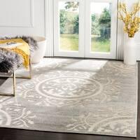 Safavieh Indoor/ Outdoor Cottage Grey/ Cream Rug - 8' X 11'