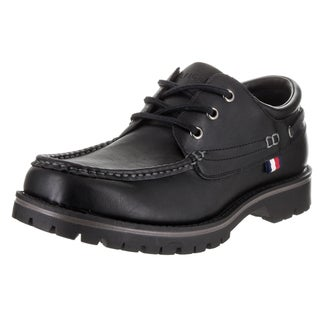 Tommy Hilfiger Men's Jorge Black Leather Casual Shoe