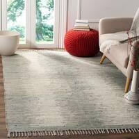Safavieh Hand-Woven Montauk Flatweave Grey Cotton Rug - 6' Square