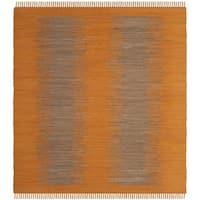 Safavieh Hand-Woven Montauk Flatweave Orange Cotton Rug - 6' Square