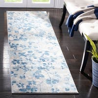 "Safavieh Evoke Vintage Flora Grey / Light Blue Rug - 2'2"" x 7'"
