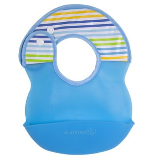 Summer Infant Blue Deluxe Bibbity Rinse and Roll Bib