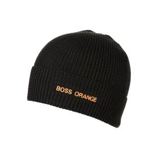 Hugo Boss Formero Black Wool Logo Beanie Hat