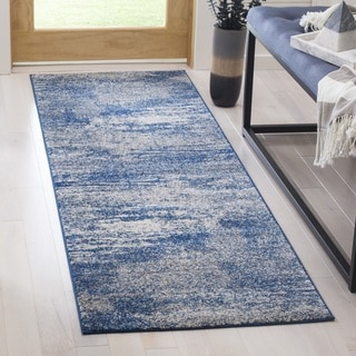 Safavieh Evoke Vintage Modern Abstract Navy / Ivory Distressed Runner (2' 2 x 9')