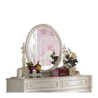 Acme Furniture Dorothy Ivory Beveled Mirror