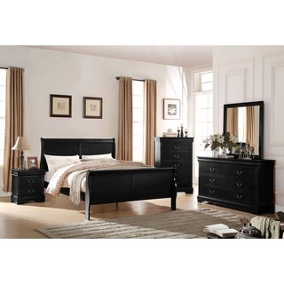 Acme Furniture Louis Philippe Bed, Black
