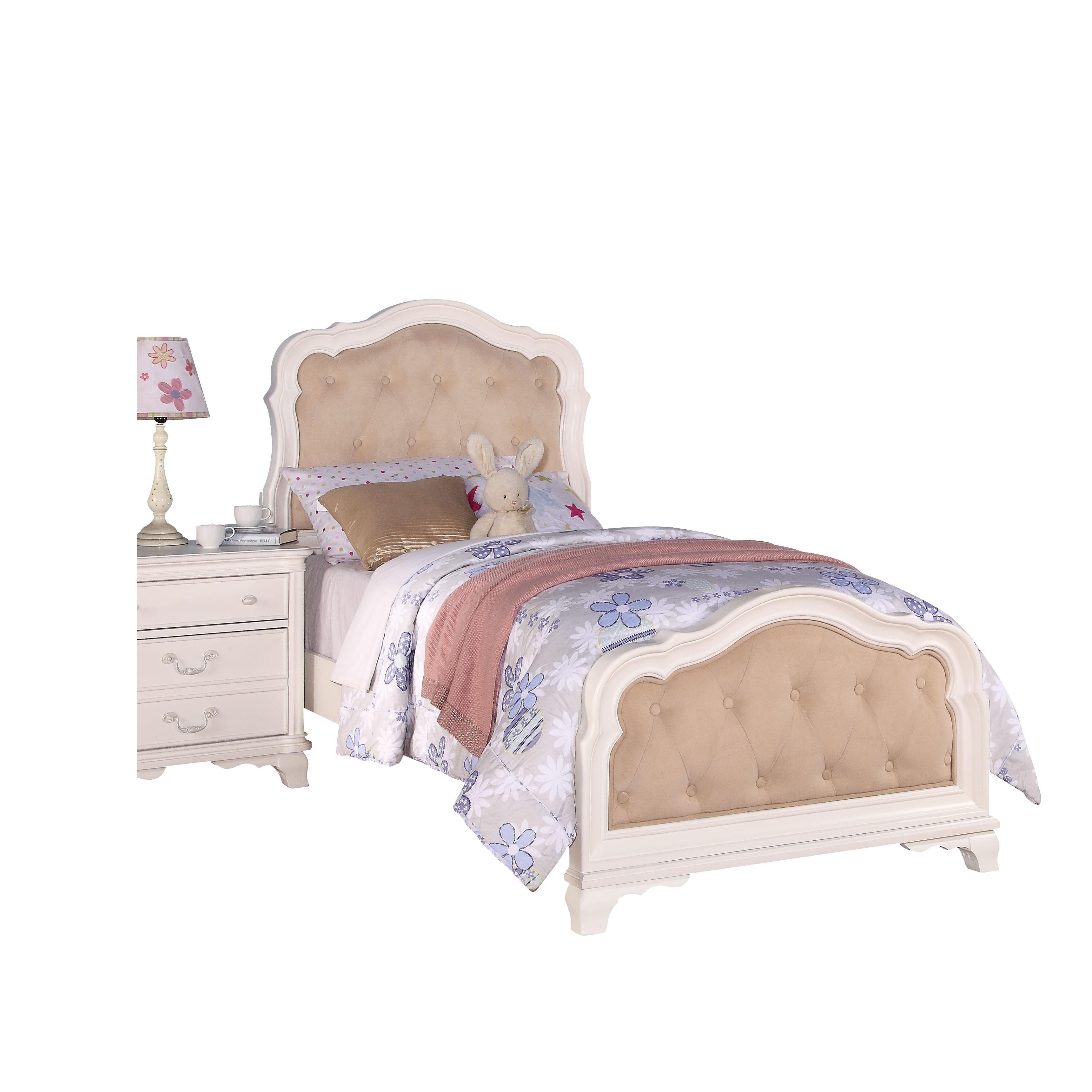 Splendid Acme Furniture Ira Bed, PU and White (Full)