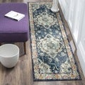 Safavieh Monaco Bohemian Medallion Navy / Light Blue Distressed Runner (2' 2 x 6')