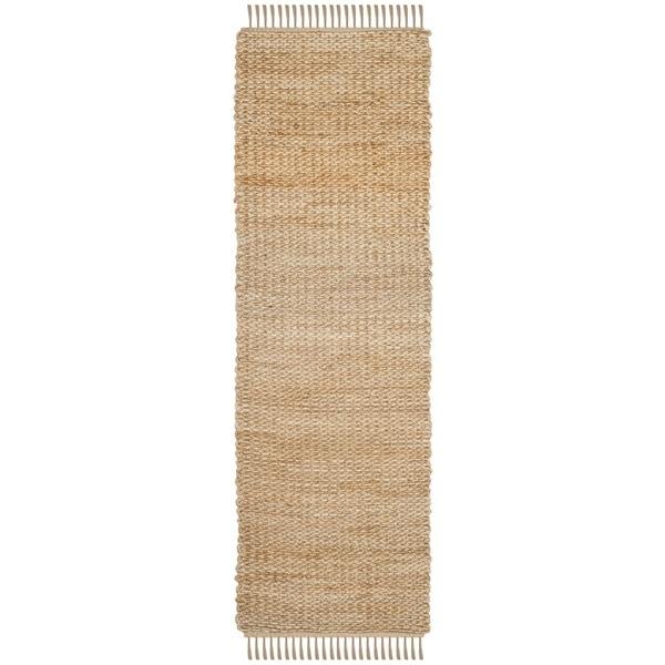 Safavieh Hand-Woven Natural Fiber Natural Jute Runner (2' 6 x 8')