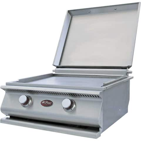Cal Flame Hibachi Front Panel Propane Drop-In Griddle Plate Grill