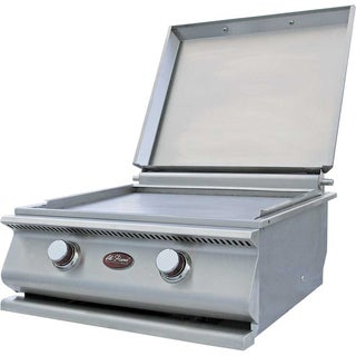Hibachi Mirror Finished Front Panel Propane Drop-In Griddle Plate Grill