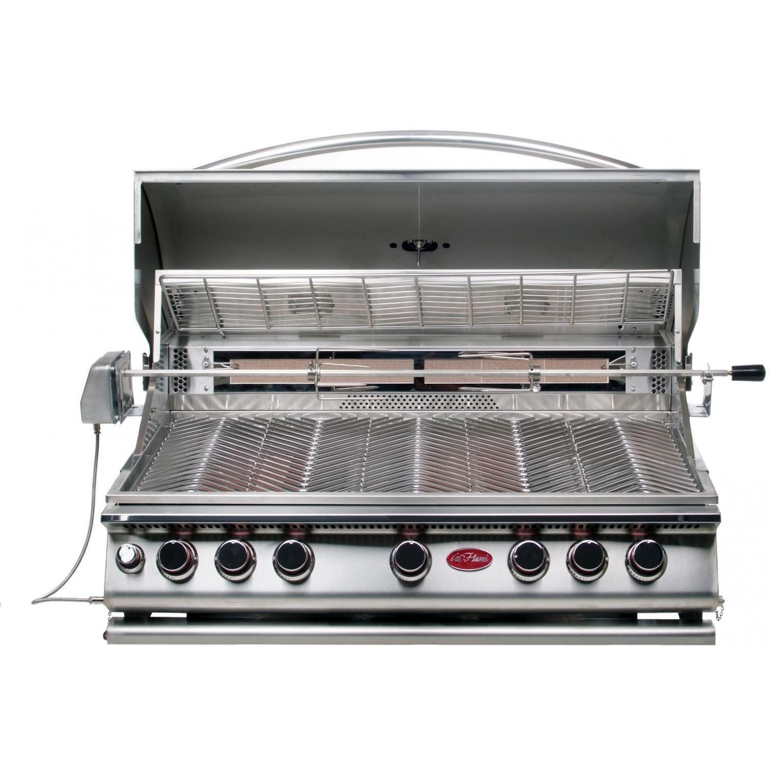 Cal Flame Built In 5 Burner Convection Grill Propane W/ N...