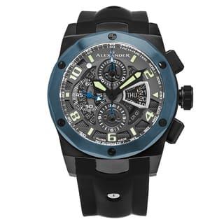 Alexander Men's Swiss Made Automatic Chronomarket 'Nikos' Black Silicon Rubber Strap Watch|https://ak1.ostkcdn.com/images/products/13863781/P20504394.jpg?impolicy=medium