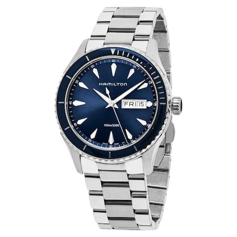 Hamilton Men's 'Jazzmaster Seaview' Blue Dial Stainless Steel Swiss Quartz Watch