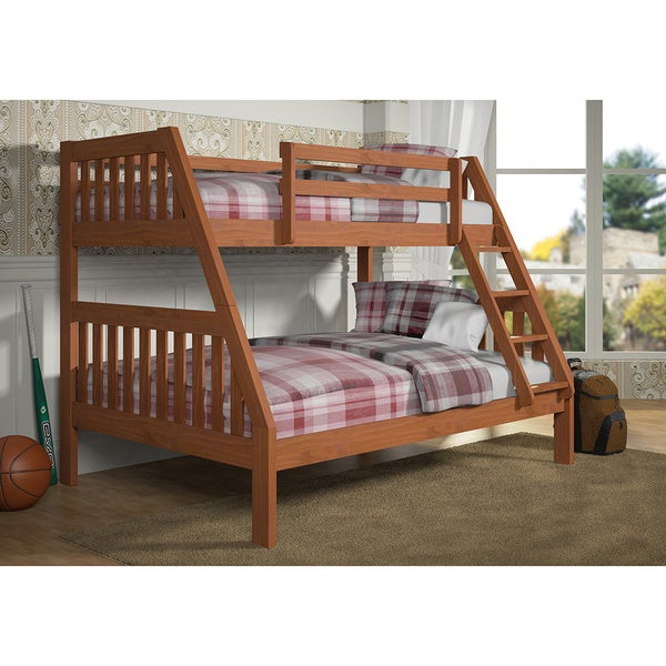 Donco Kids Twin over Full Mission Bunk Bed in Cinnamon