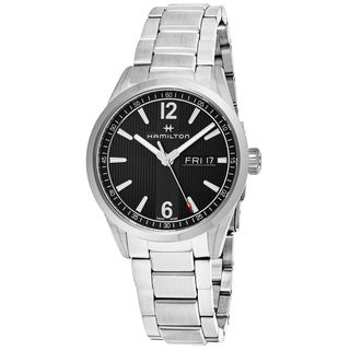 Hamilton Men's H43311135 'Broadway' Black Dial Stainless Steel Day Date Swiss Quartz Watch