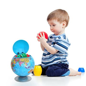 100% Touchless Round Motion Sensor Toy Box - Globe