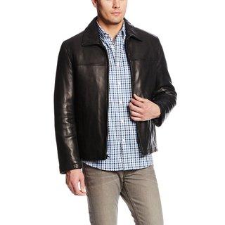 Tommy Hilfiger Big & Tall Black Leather Jacket