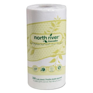 Cascades North River Perforated Roll Towels,2-Ply 11 x 8 13/16 250/Roll 12 Roll/Carton