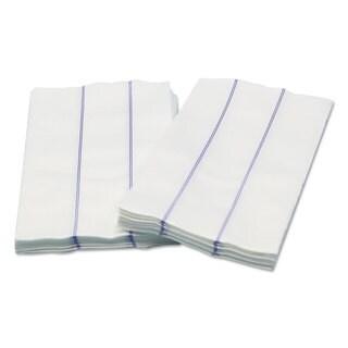 Cascades Busboy Linen Replacement Towels White/Blue 13 x 24 1/4 Fold 72/Carton