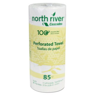 Cascades North River Perforated Roll Towels 2-Ply 11 x 9 85/Roll 30/Carton