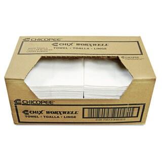 Chix Worxwell General Purpose Towels, 13 x 15, White, (Pack of 100)