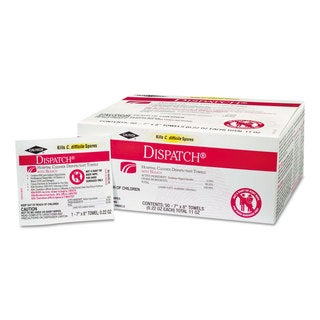Clorox Healthcare Dispatch Cleaner Disinfectant Towels with Bleach 7 x 8 50/Box 6 Boxes/Carton