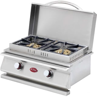 Cal Flame Deluxe Double Side By Side Burner Lp with Ng Conversion Kit