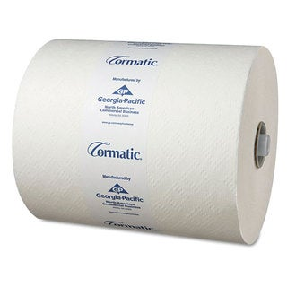Georgia Pacific Professional Hardwound Roll Towels 8 1/4 x 700ft White 6 Rolls/Carton